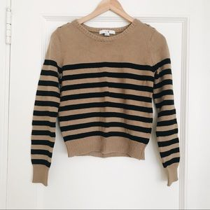 Forever 21 Brown Striped Sweater